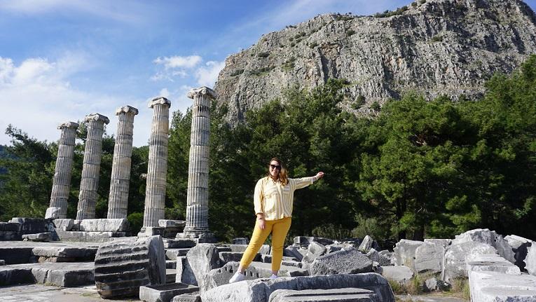priene antik kenti aydın gezilecek yerler