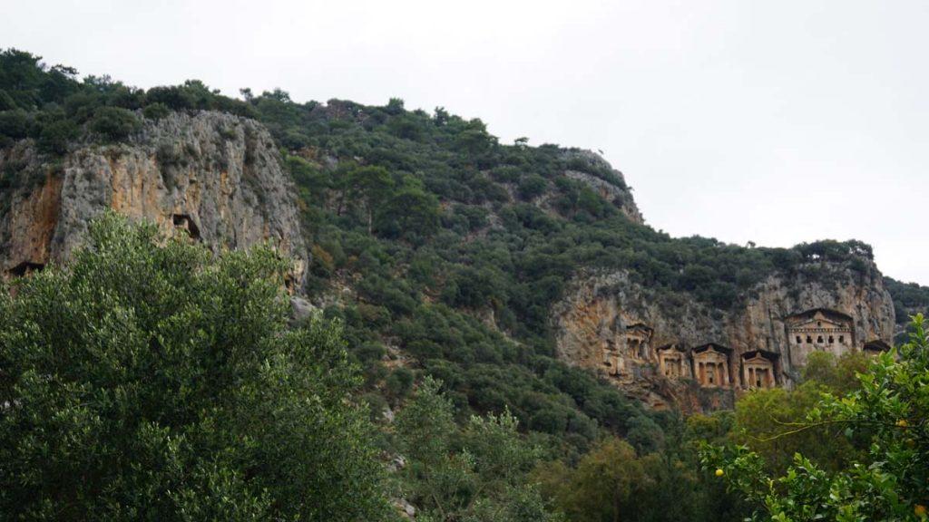 köyceğiz nereye gidilir kaunos kaya mezarları