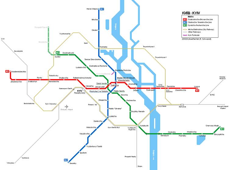kiev gezilecek yerler metro hattı