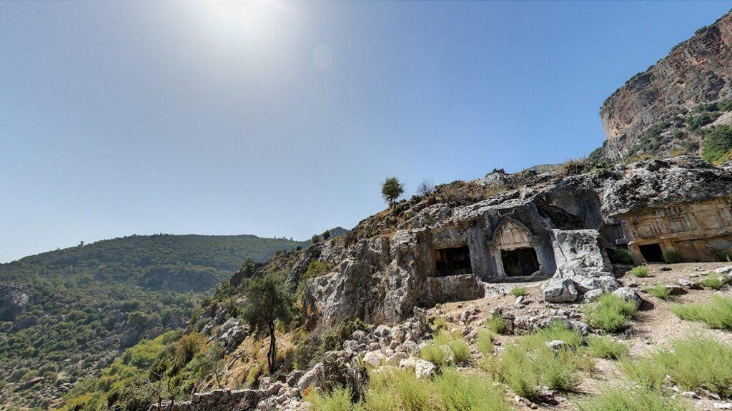 muğla antik kentleri pınara antik kenti