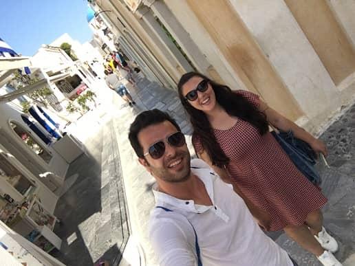 santorini sokakları