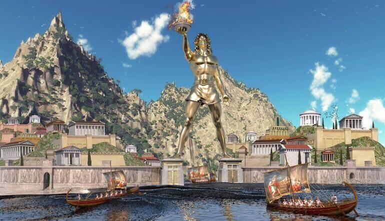 rodos heykeli ve mandraki limanı