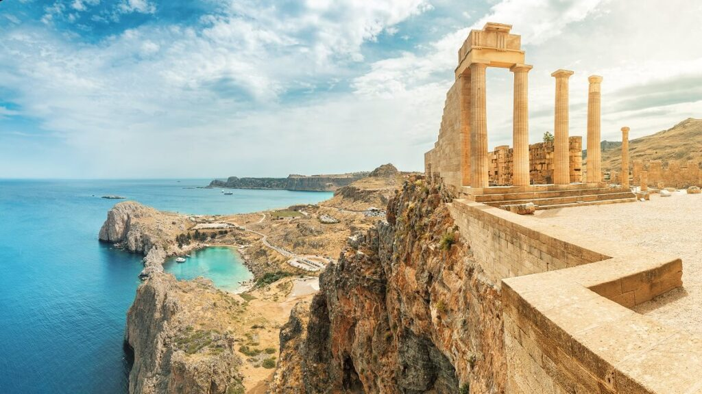 Rodos Gezilecek Yerler lindos akropolü