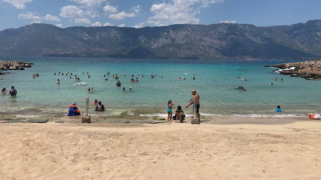 kleopatra plajının kumu