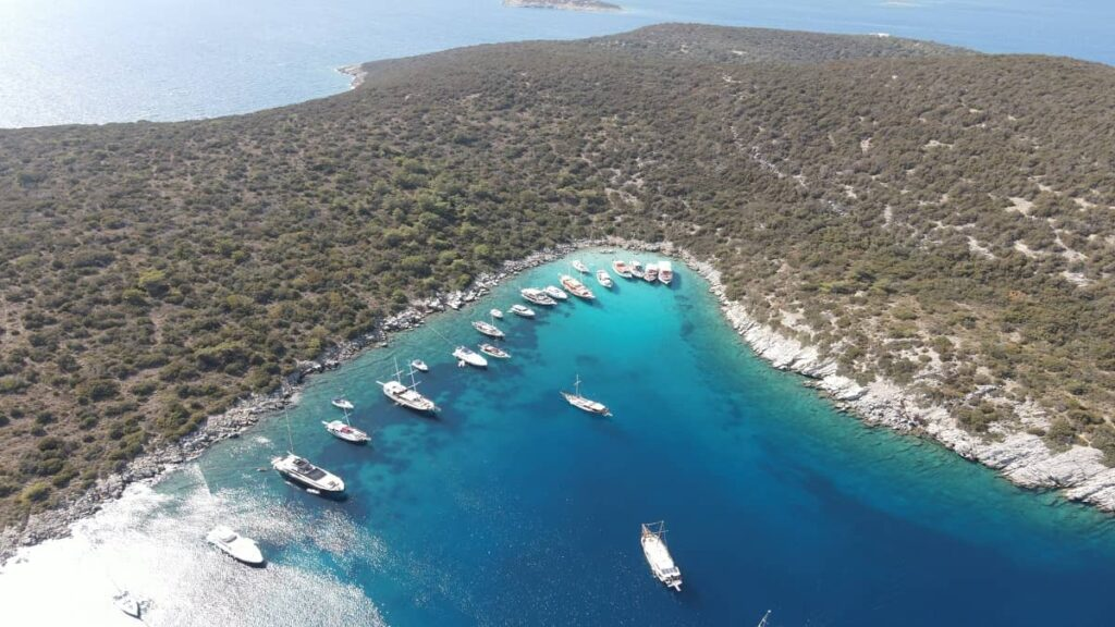 bodrum koyları ve plajları orak adası